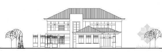 某二层坡屋顶会所建筑方案带效果图