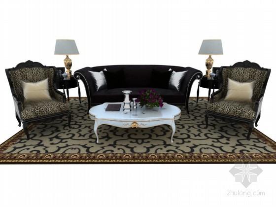 欧式组合沙发3D模型下载