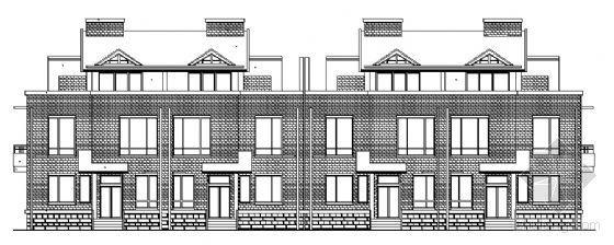 金色港湾某三层联排别墅建筑施工图
