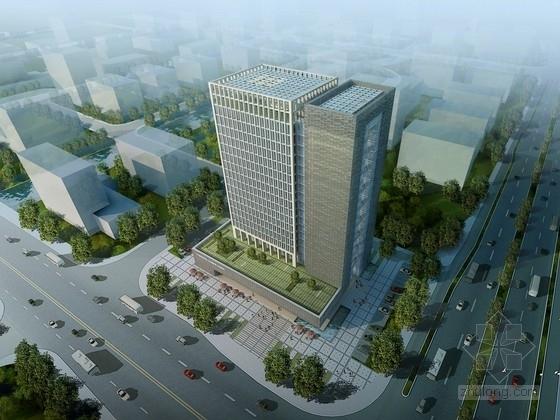 [浙江]19层高层玻璃幕墙办公楼建筑设计方案文本
