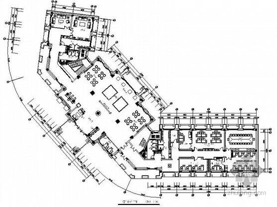 [山东]某花园售楼处全套室内设计施工图(含清单报价)