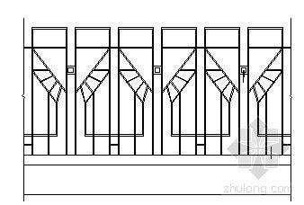 经典铁艺围墙施工图