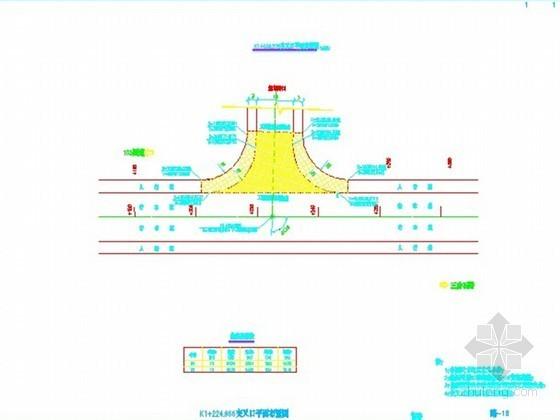 沥青混凝土道路施工图设计(39张CAD图)