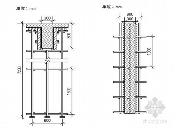 [重庆]框架结构工业厂房工程高支模施工方案
