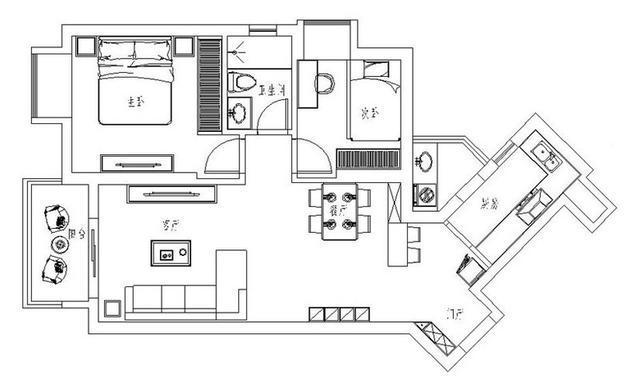 中性现代一居室