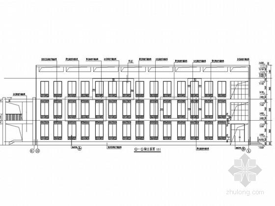 三层框架结构中学综合楼结构施工图(含建筑图)