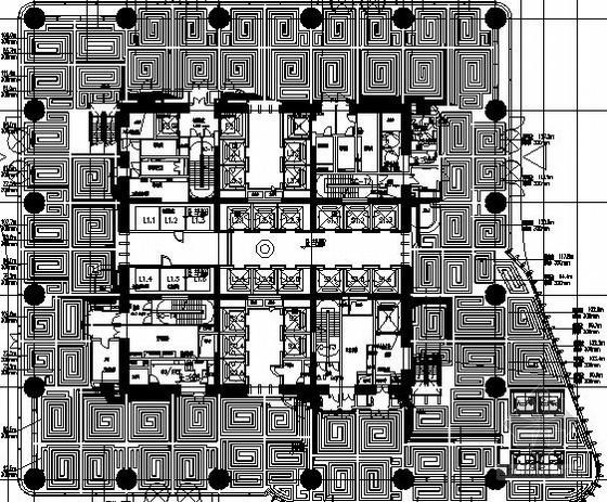 [河南]33万平超高层商业办公楼暖通空调及防排烟设计施工图(284米 知名设计院)