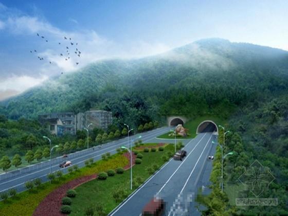 单向三车道隧道设计图(复线 初步设计)