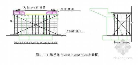 桥梁工程天桥现浇箱梁满堂支架计算书