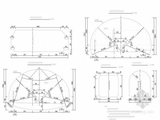 [广西]双向分离式隧道施工图99张(穿越山体)