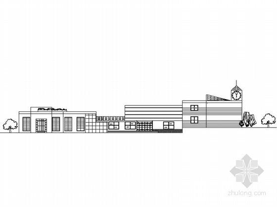 [课程设计]某二层大学生活动中学建筑方案图