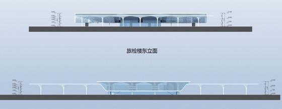 [广东]珠三角地区核心口岸交通枢纽规划设计方案文本-珠三角地区核心口岸交通枢纽规划立面图
