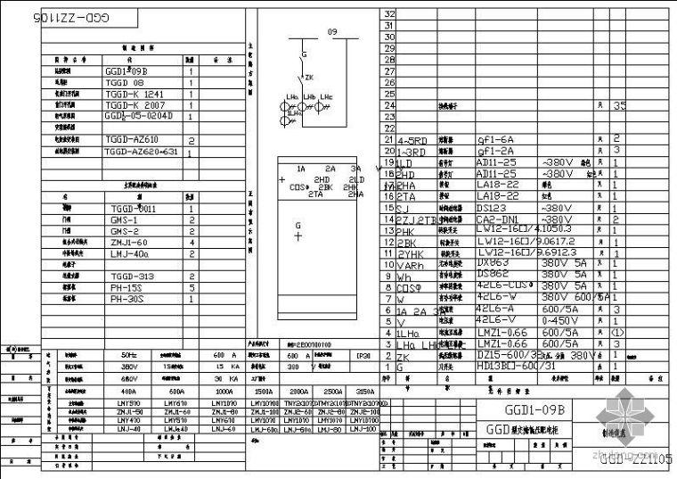 GGD型交流低压配电柜制造规范详图