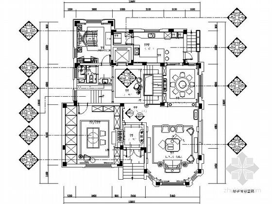 [江苏]独栋豪华三层别墅室内装修施工图(含效果)