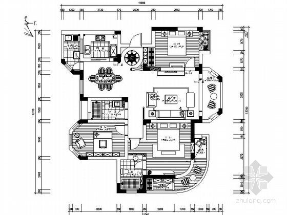 [江苏]新中式优雅复式住宅CAD施工图(含效果图)
