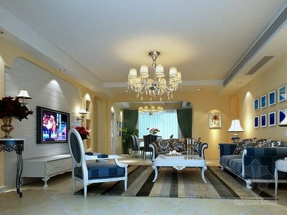 地中海欧式风格客厅