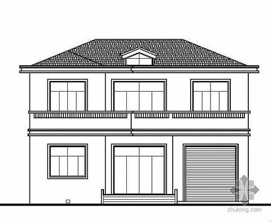 五套经典坡屋顶二层小别墅建筑结构施工图集