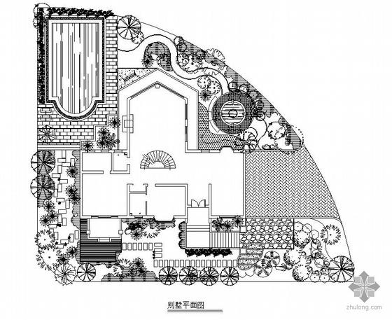 某别墅景观设计平面图