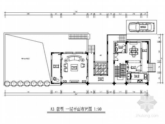 [海南]原创雅致简欧三层别墅样板房室内装修图(含效果)