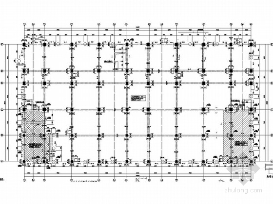 [四川]7层框架结构医院业务综合楼及食堂结构图