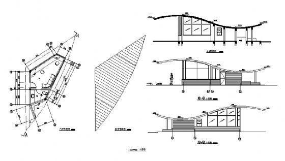 门卫平面、立面图-4