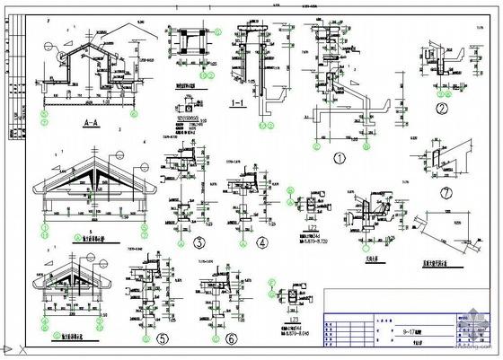 一套完整的别墅建筑结构施工图(一)