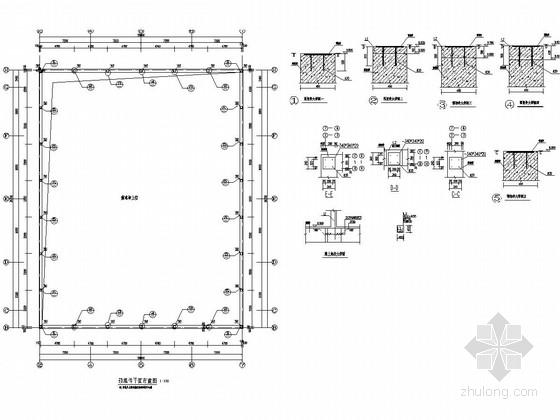 风雨操场屋顶网架结构施工图