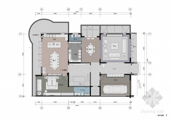 [北京]简约欧式水岸别墅室内精装方案