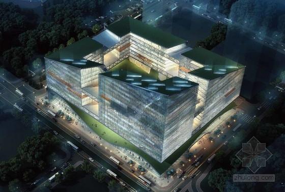 [广东]知名电商回字形办公总部大厦建筑设计概念方案文本