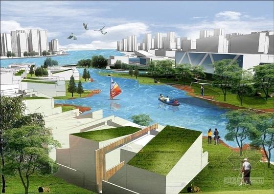 现代风格城市片区设计方案效果图