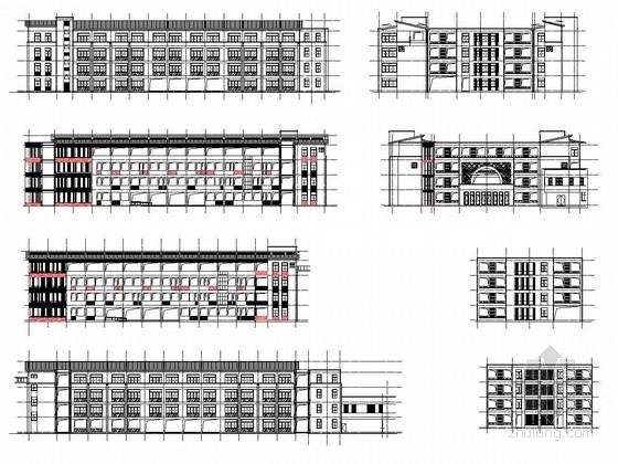 [浙江]15000平小学教学办公楼及实验楼结构施工图(含建筑图 )