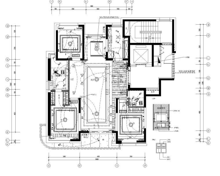 [上海]集艾设计G&A-海珀黄浦4-1中式样板间设计方案含效果图+施工图_1