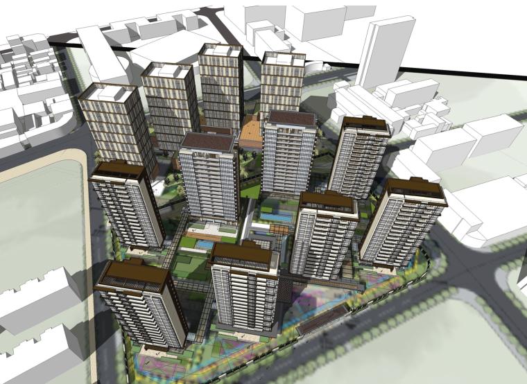 [上海]住宅居住区建筑设计方案文本