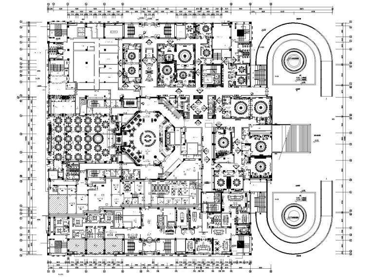 [金螳螂设计]西安大唐西市酒店装修施工图(附设计方案+效果图)