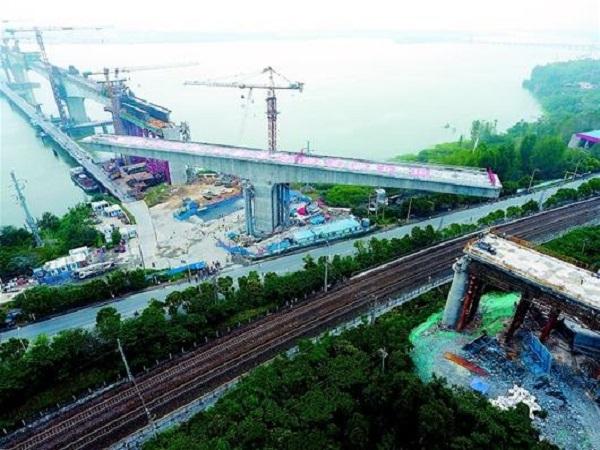 特大桥跨高天T构转体方案