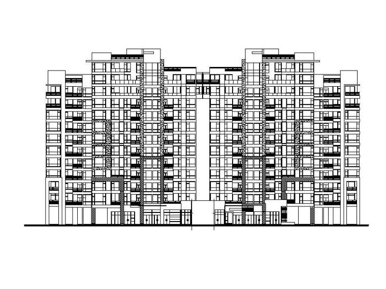 [广州]万科四季花园高层居住区建筑施工图