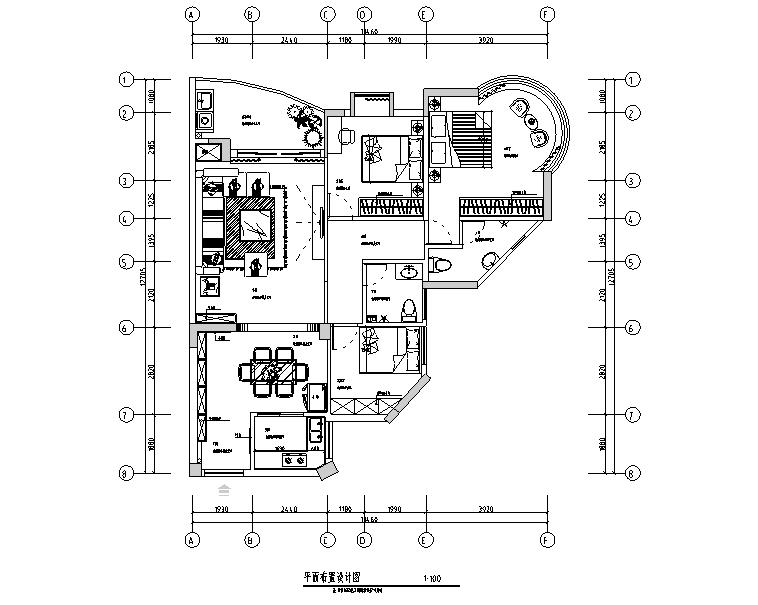现代简约极简主义三居室住宅空间设计施工图(附效果图+软装表)