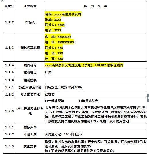 送变电(供电)工程EPC总承包招标文件(共138页)
