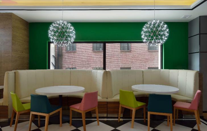 吉旺港式餐厅亚龙广场店室内装修设计效果图方案(15张)