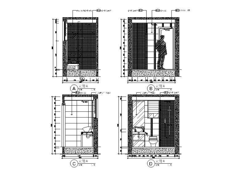 现代简约风格样板间设计施工图(含效果图)_7