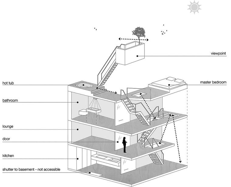 比利时一室小型酒店建筑示意图 (11)