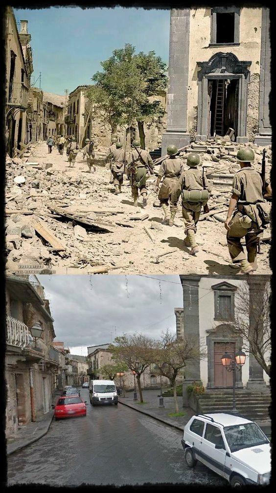 叙利亚战争后的城市建筑对比,满地废墟浓烟弥漫_35