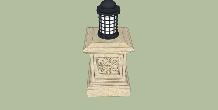 庭院景观各式灯SU模型设计_3