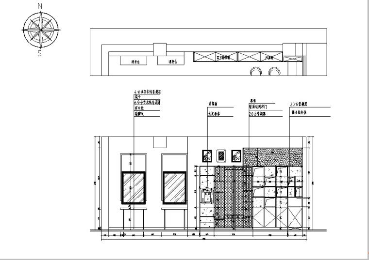 [杭州]现代工业风理发店设计施工图(含效果图)_5