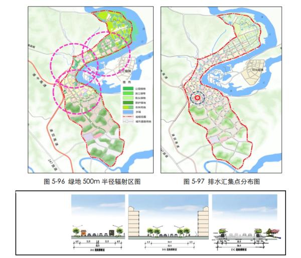 """[四川]""""海绵城市""""城乡规划专项设计详细解读文本(附规划图则+植物名录)-道路系统设计详图"""