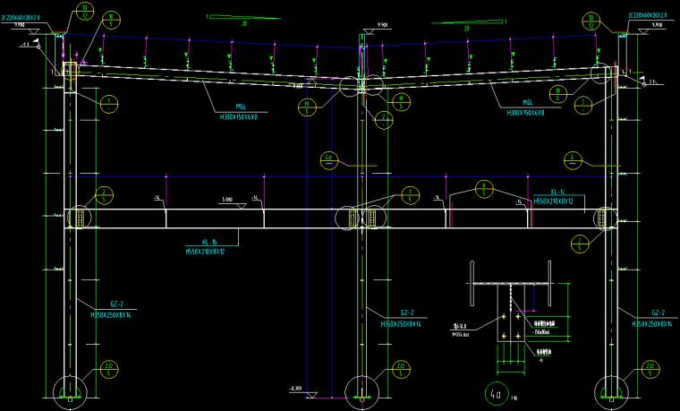 汽车展厅4S店钢结构_3