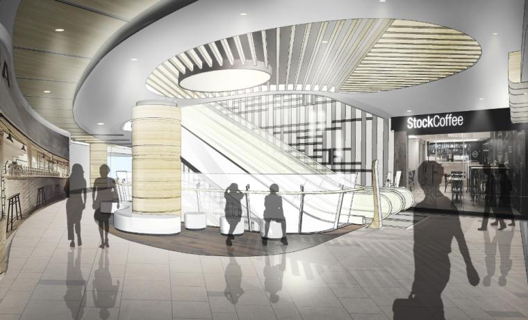 [福州]三层现代风格中心商场施工图(含效果图+SU模型)_8