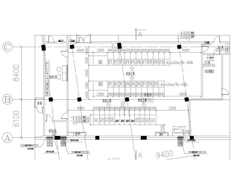 [上海]某学院楼及教学楼电气施工图纸(含动力、照明及变电所图纸)