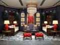 新古典客厅沙发 茶几 吊灯组合3D模型