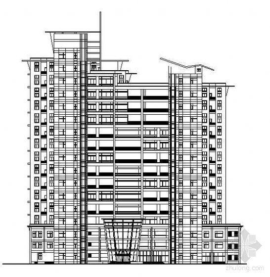 某复式十六层商住楼建筑方案图纸